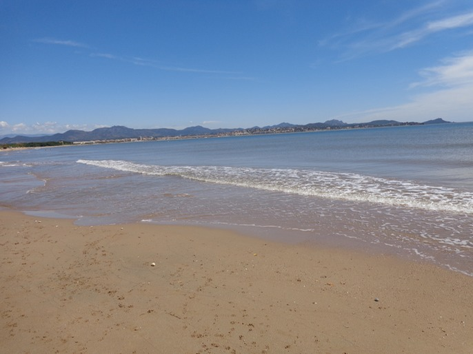 Looking across to Frejus