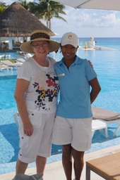 Margaret with Laura, Pool Concierge
