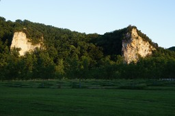The banks of the Dordogne River