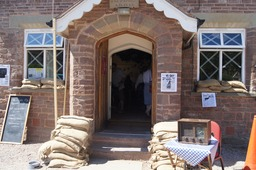 a '40's' theme at the Skenfrith Festival 2013. The village hall as it looked in the 1940's.