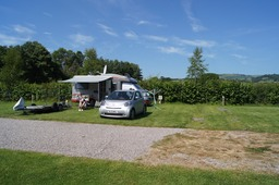 Our pitch at the Three Castles Country Park