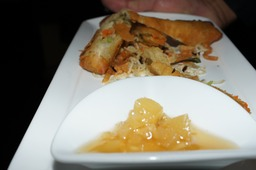 Spring Rolls with Pineapple Chutney