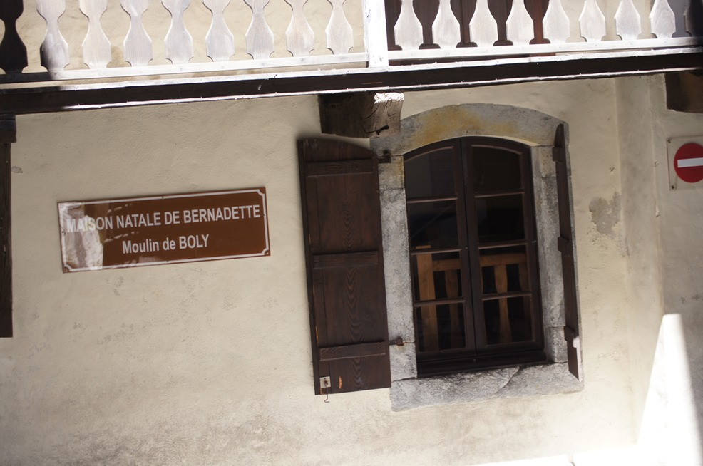 Bernadette's birthplace in Lourdes