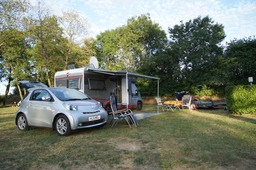 Our pitch at Camping du Pont de Bourgogne