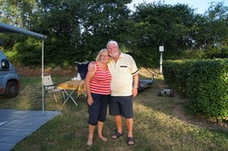 Us on our Pitch at Camping du Pont de Bourgogne